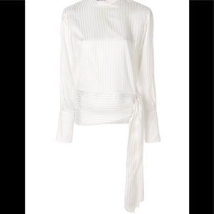 Stella McCartney Silk Side Tie Blouse